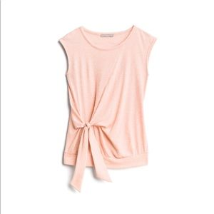 LOVEAPPELLA Tie Front Knit Top NWT Peach Size S